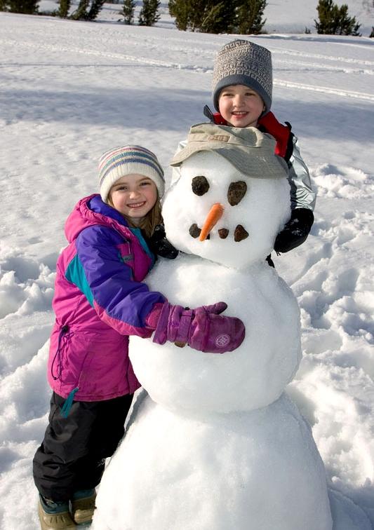 Фото и картинки дети и снеговики