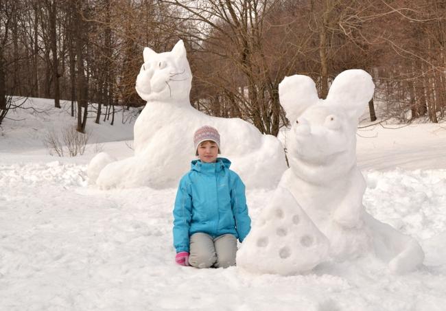 Как сделать снежные фигуры из снега своими