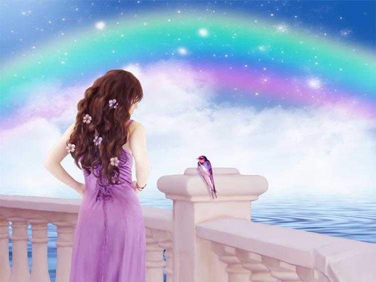 История любви  или  Ангел с опаленными крылами